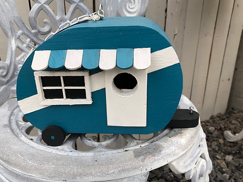 Teal Sardine Can Birdhouse