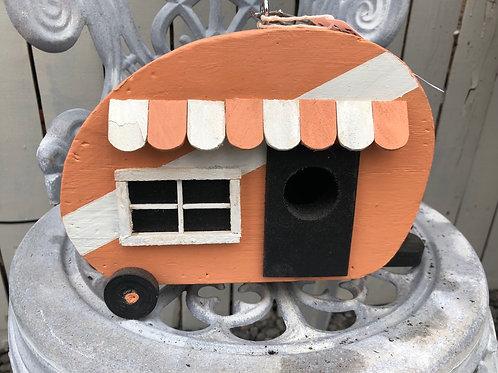 Peach Sardine Can Camper Birdhouse