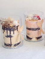 "Rustic 3"" mini cake"