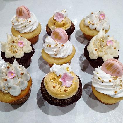 Macarons & Flower cupcakes