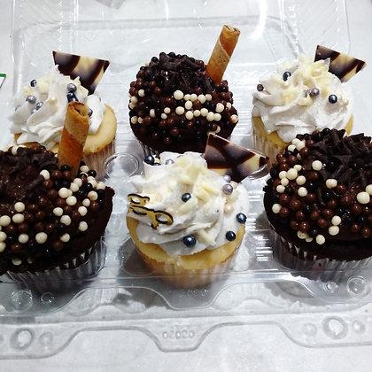 Half & Half standard size mixed cupcakes
