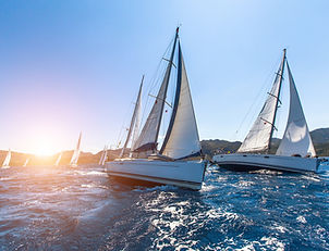 Luxury yachts at Sailing regatta. Sailin
