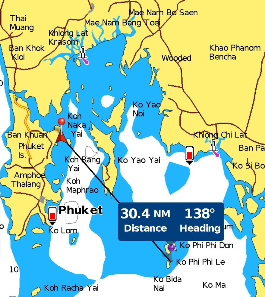 Tracking to Phi Phi Islands