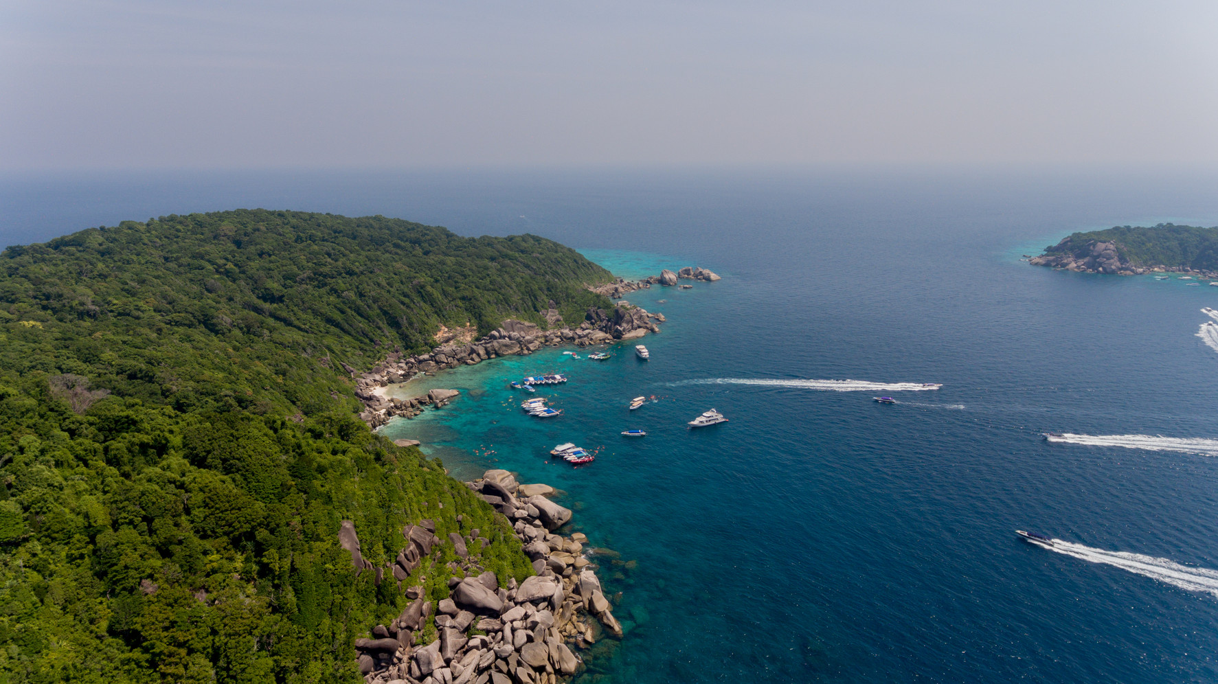 Canva - Aerial similan island with speed