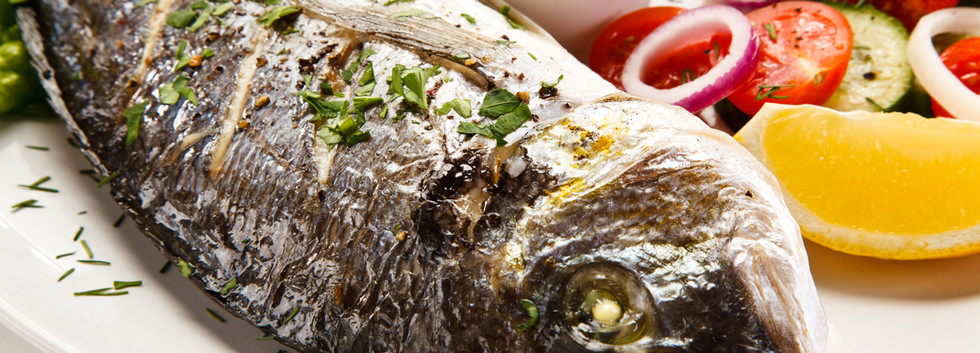 Canva - Fish dish - roast fish with vege