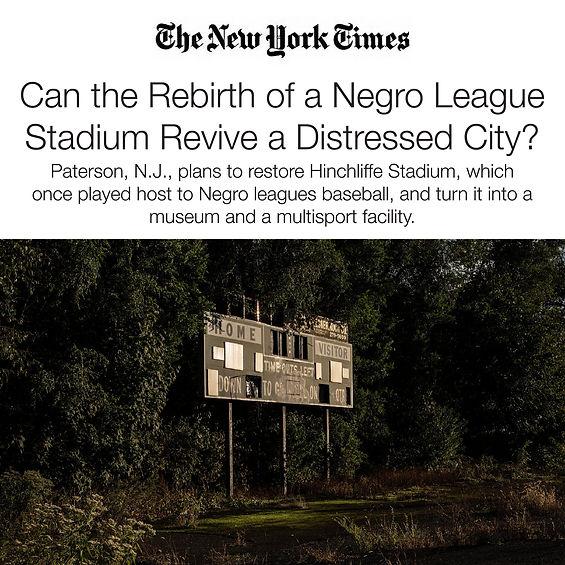 468 Totow Ave Rebirth of Negro League Stadium in Paterson, NJ