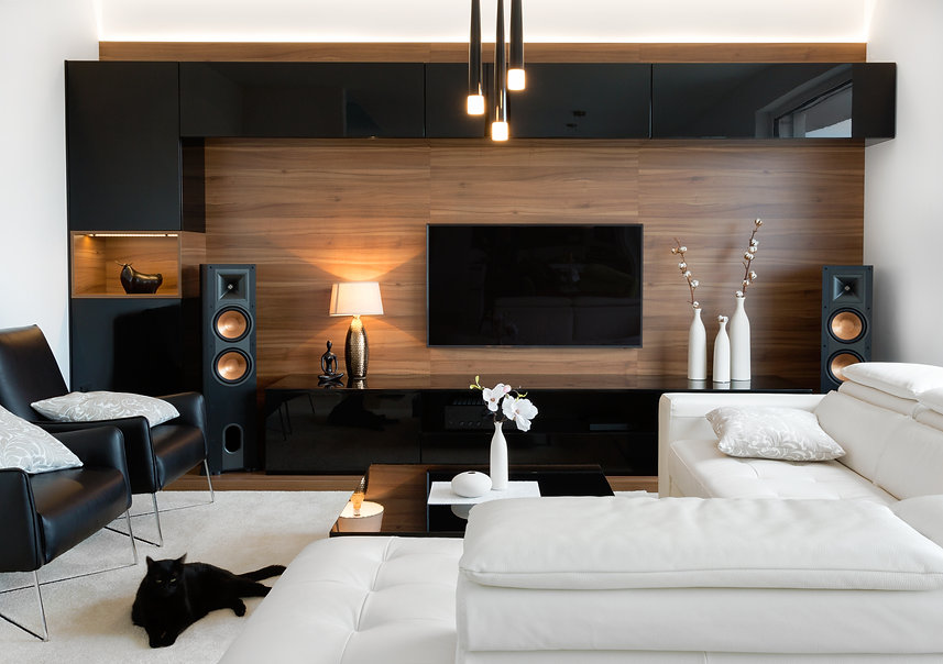 Modern living room interior of real home