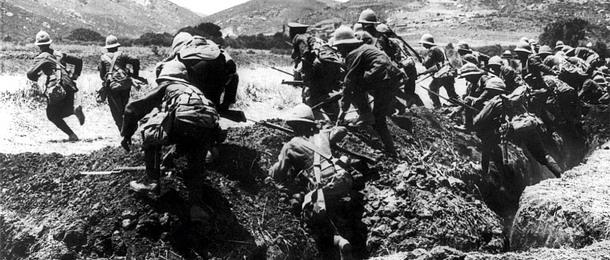 Çanakkale Siperlerinde Askerler