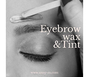 ✨Eyebrow wax only and wax + tint availab