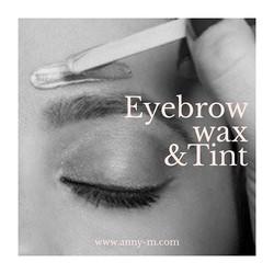 ✨Eyebrow wax only and wax + tint availab