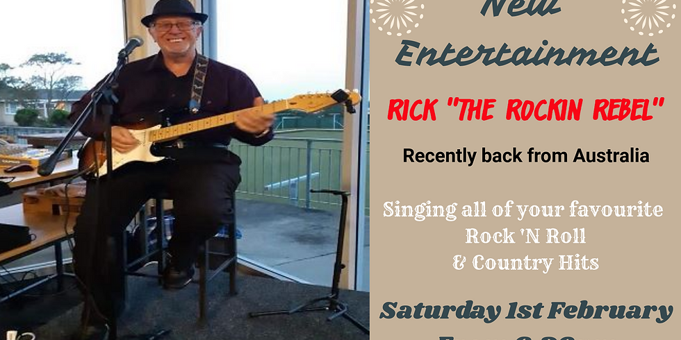 "Rick ""The Rockin Rebel"" - Saturday 1st February from 6.30pm"