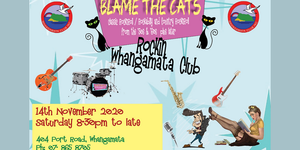 Blame the Cats - Saturday 14th November from 8.30pm