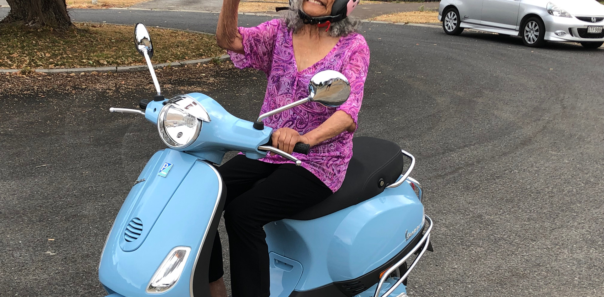 Rangi on Scooter.JPG