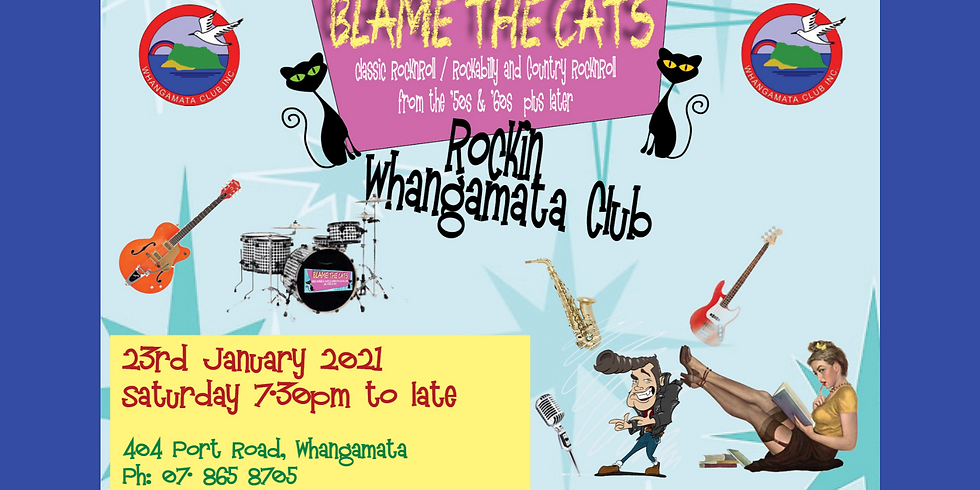 Blame the Cats - Saturday 23rd January 2021 from 7.30pm