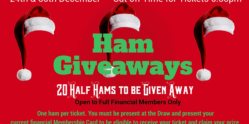 Ham Giveaways - 24th December from 6.30pm