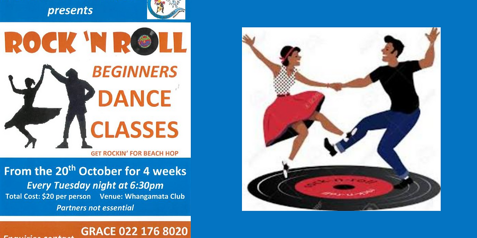 Rock 'N Roll Beginners Dance Classes 4 Weeks Comm Tues 20th October from 6.30pm