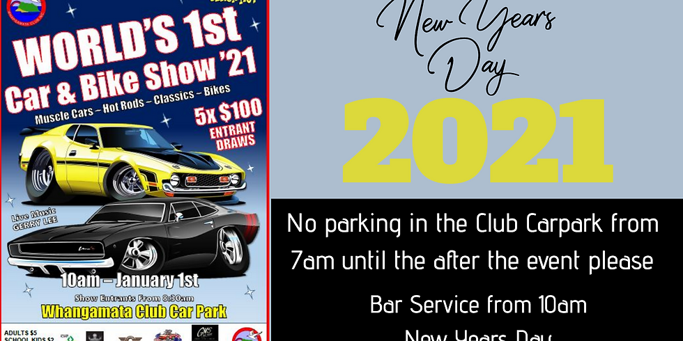 World's 1st Car & Bike Show '21 - New Years Day from 10am