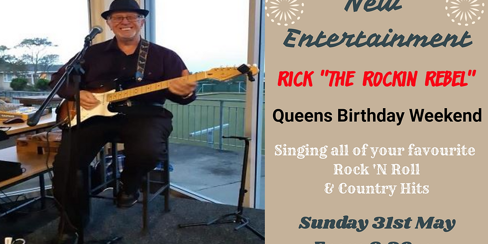 """Rick - The """"Rockin Rebel"""" - Sunday 31st May 2020 from 6.30pm"""