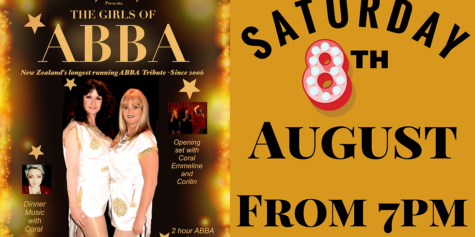 Coral, Emmeline & Corilin & The Girls of ABBA Show - Saturday 8th August from 7pm