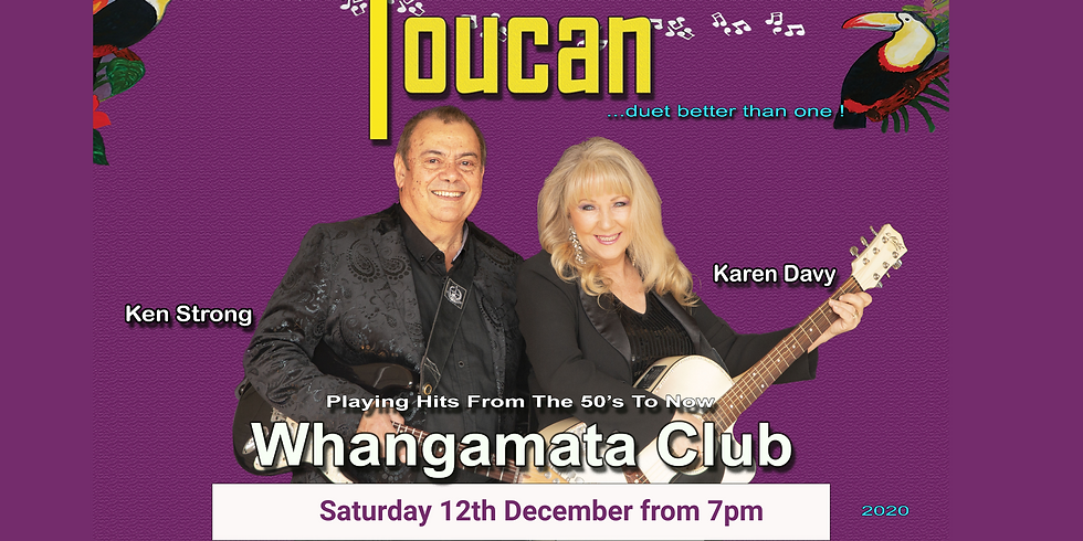 Toucan - Saturday 12th December 2020 from 7pm