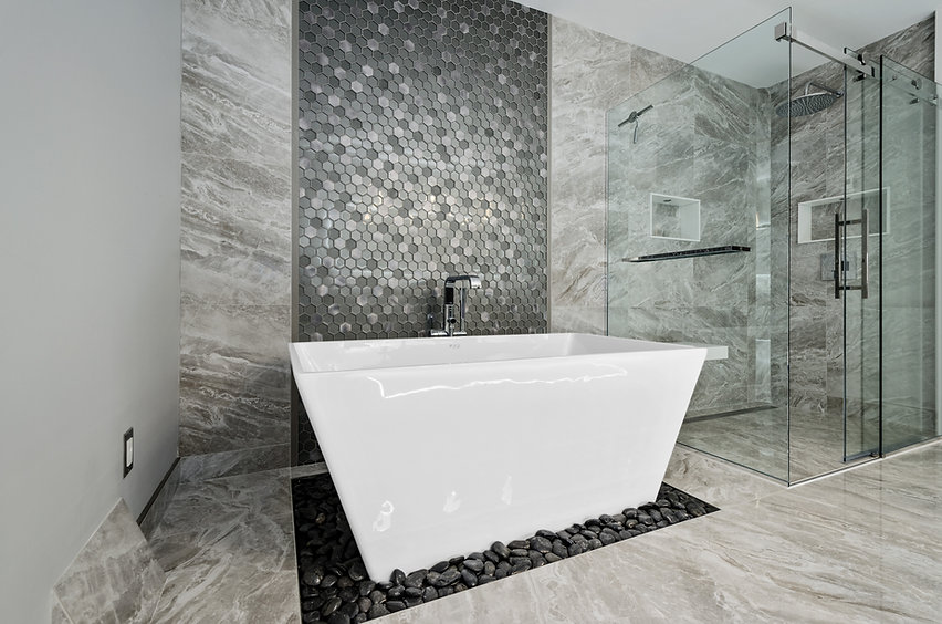 Bathroom renovaton - mosaic tiles