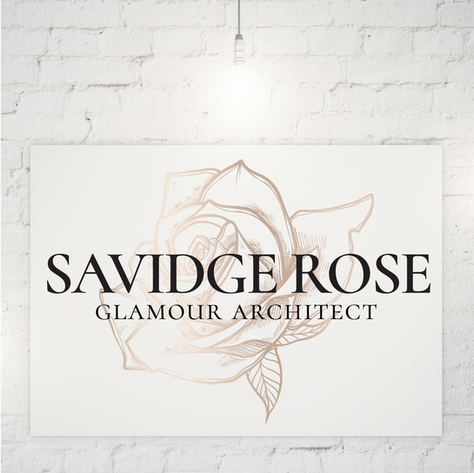 SAVIDGE ROSE - GLAMOUR ARCHITECT  |  LOGO DESIGN