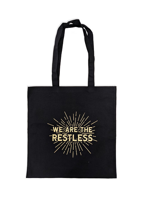 'We are the Restless' Tote Bag - Black