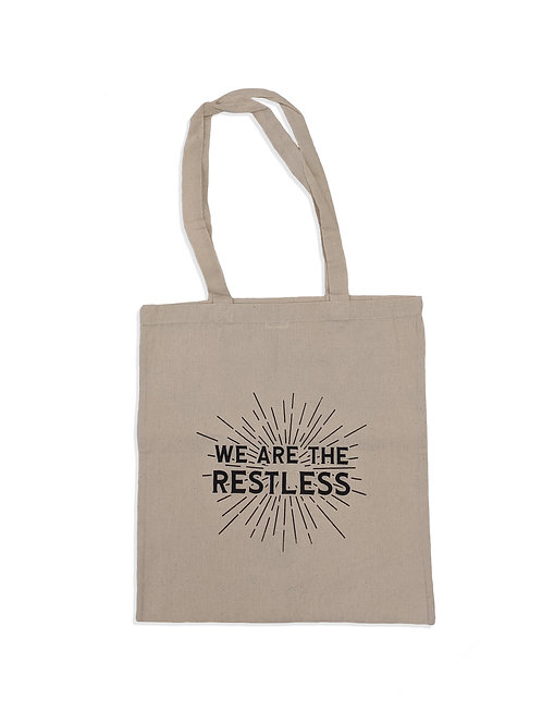 'We are the Restless' Tote Bag - Beige