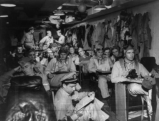 World War 2 Carrier Ready Room