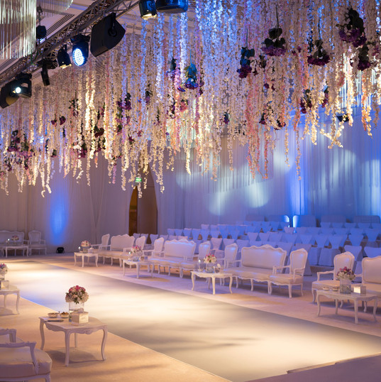 A combination of Lailak work setup for wedding lights and sound surround system, including the traditional music band and the DJ.