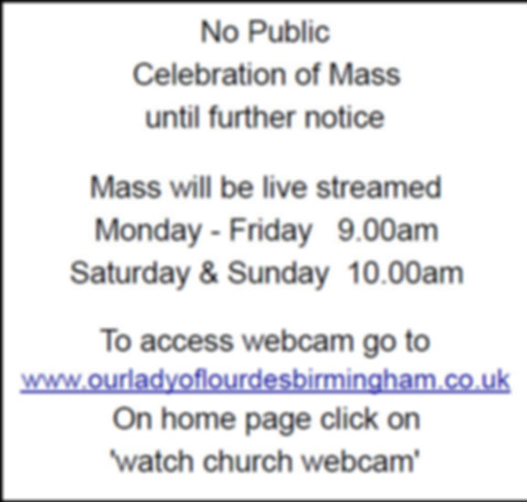 Our Lady of Lourdes Church - Notice 2903