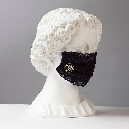 Υφασμάτινη μάσκα - Βαμβακερή με Δαντέλες D101