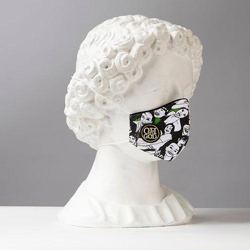 Υφασμάτινη μάσκα - Βαμβακερή με τριγωνική ραφή στο κέντρο P-101