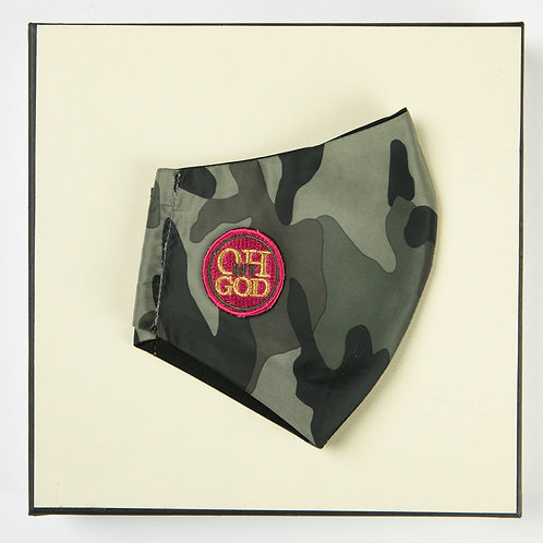 Υφασμάτινη Αδιάβροχη Μάσκα. με βαμβακερή εσωτερική επένδυση  P/W-104