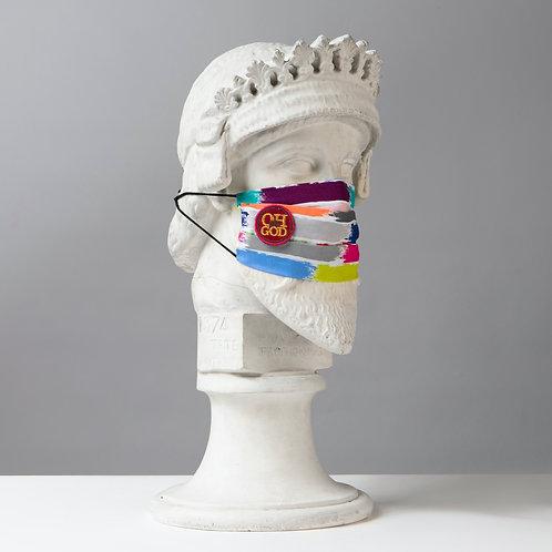Υφασμάτινη μάσκα - Βαμβακερή με Πιέτες C-102