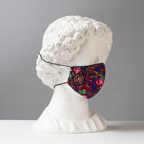 Υφασμάτινη μάσκα - Βαμβακερή με τριγωνική ραφή στο κέντρο P-102