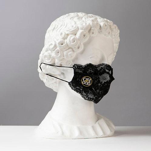 Υφασμάτινη Βαμβακερή Μάσκα με Δαντέλες D105