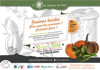 """Les Echos Jardiniers organisent une conférence interactive sur  la conservation des """"Graines lo"""