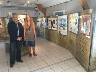 #Exposition - l'estuaire de l'Orne vue par Ramine... l'univers imaginaire des marins !