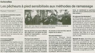Revue de presse - Opération Pêche à pied récréative à la une !