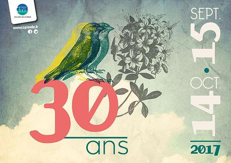 Affiche 30 ans CPIE Vallée de l'orne