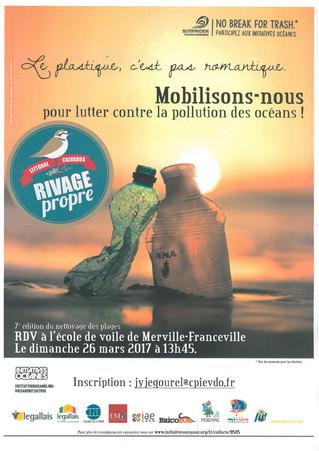 #Agenda - 7e édition des Grands nettoyage de plage le 26 mars prochain.