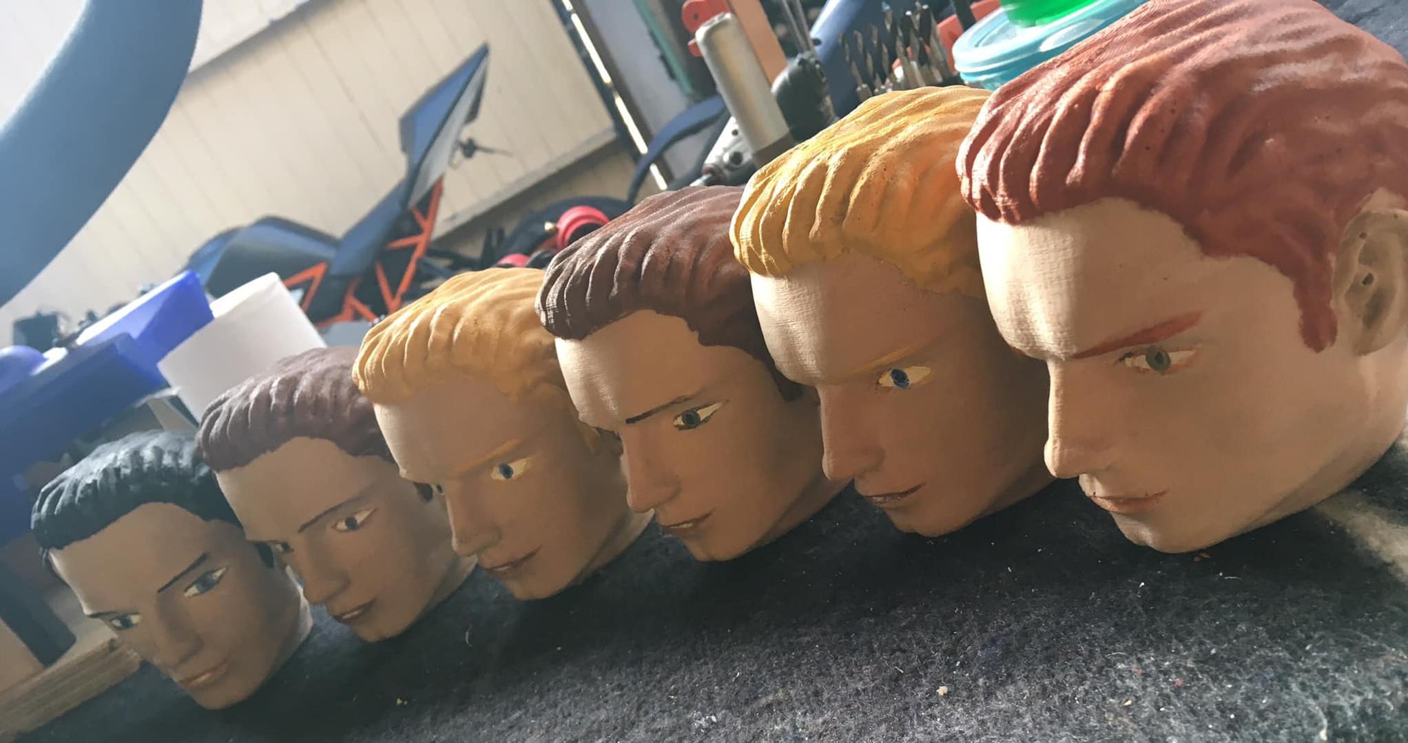 Various Bro hair and eye colours