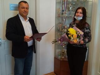 Анастасия Сергеевна отмечена Почетной грамотой.