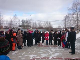 Митинг, посвященный 100-летию создания Красной Армии.