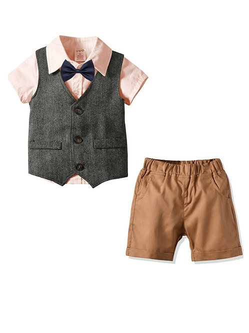 4 Piece British Style Casual Boys Set