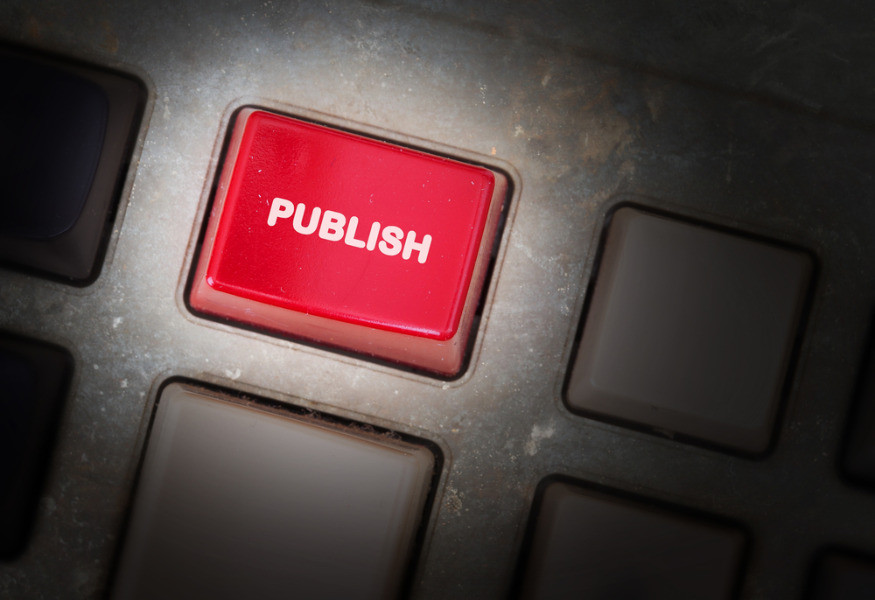 Button to start the book publishing process