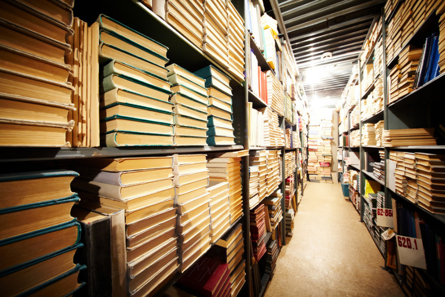 Book distribution for bookstores at a warehouse.