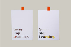 never stop learning two