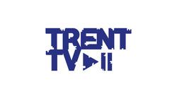 Trent tv play white background